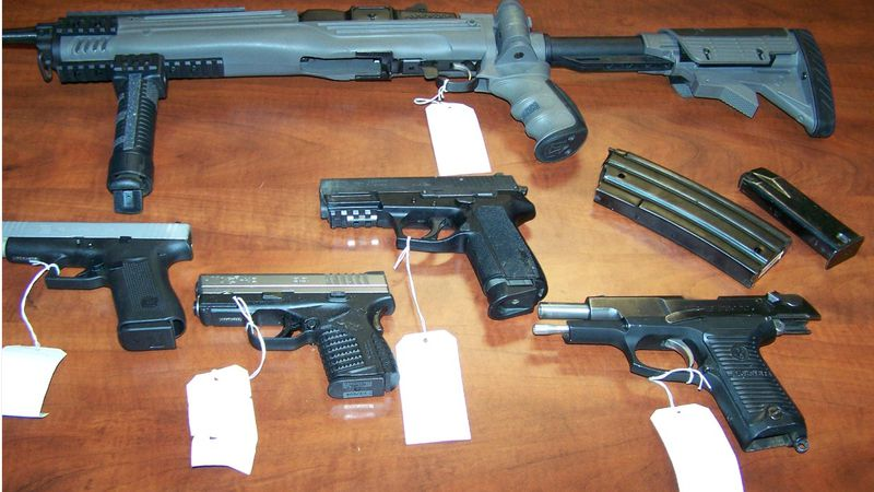 Center Police: recovered guns