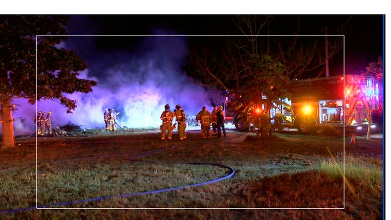 Fire crews battle overnight house fire in Smith County