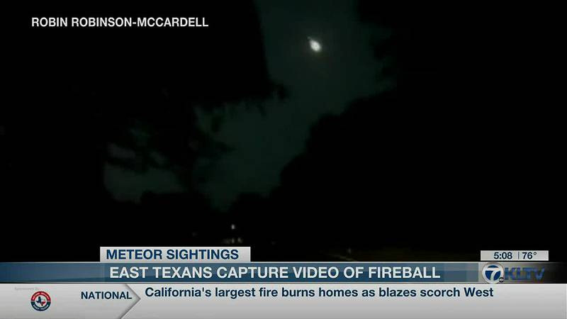 East Texans report fireball, loud noise from sky