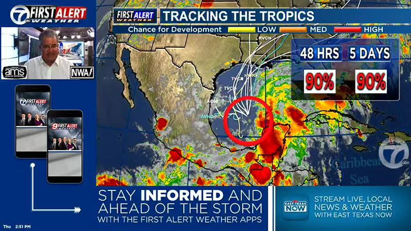 Watching the southern Gulf of Mexico for tropical development.
