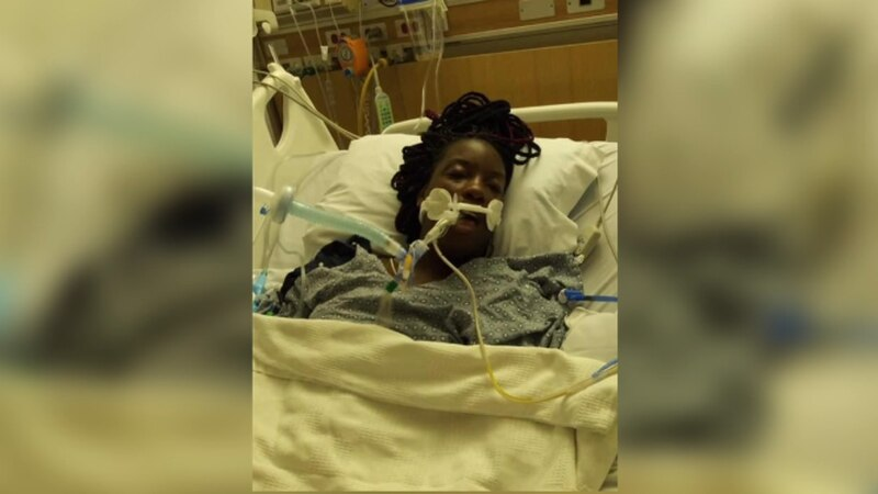 24-year-old Uyria Kemp in a Tyler hospital. She has since returned home where she continues to...