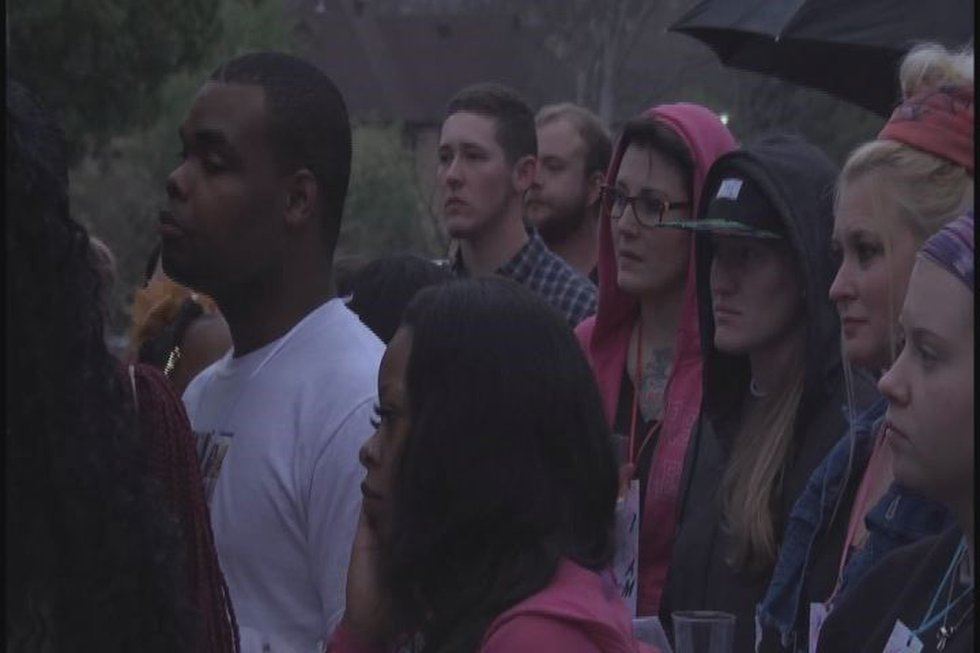 Source: KLTV Staff- Approximately 100 people gathered for the candlelight vigil for Ty Underwood.