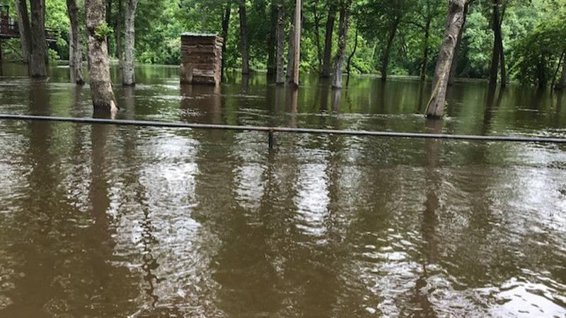 Flooding along the Sabine River