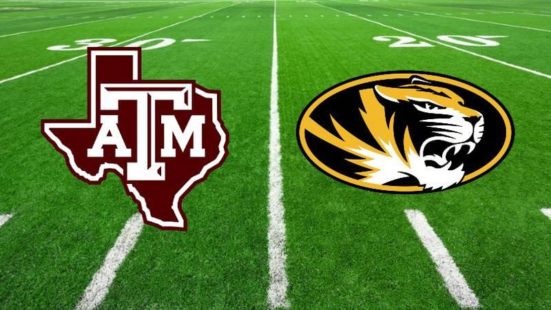 Texas A&M vs Missouri Football field