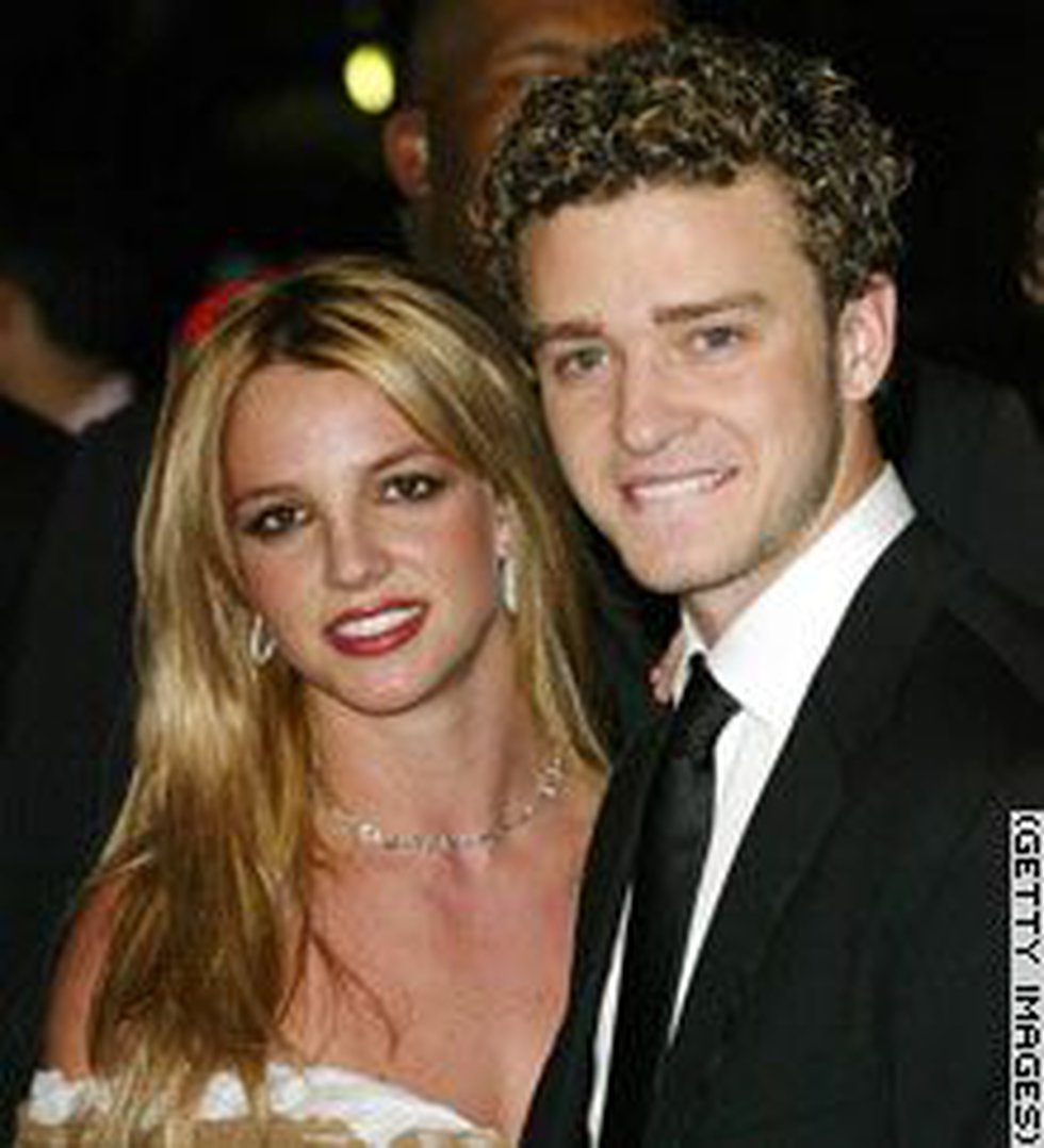 Britney Spears and Justin Timberlake before their 2002 breakup.