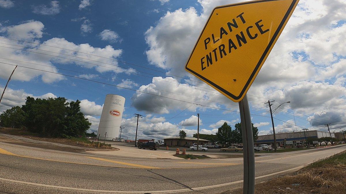 Tyson poultry plant entrance
