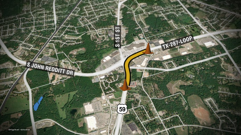 Motorists should expect delays around scheduled work near U.S. 59 South and Loop 287 in Lufkin,...