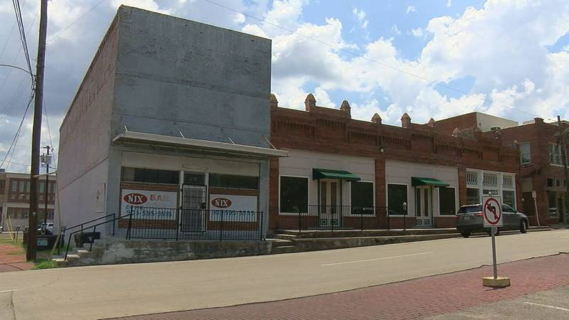 The building shown on the corner (left) was approved for purchase on Tuesday by Smith County...
