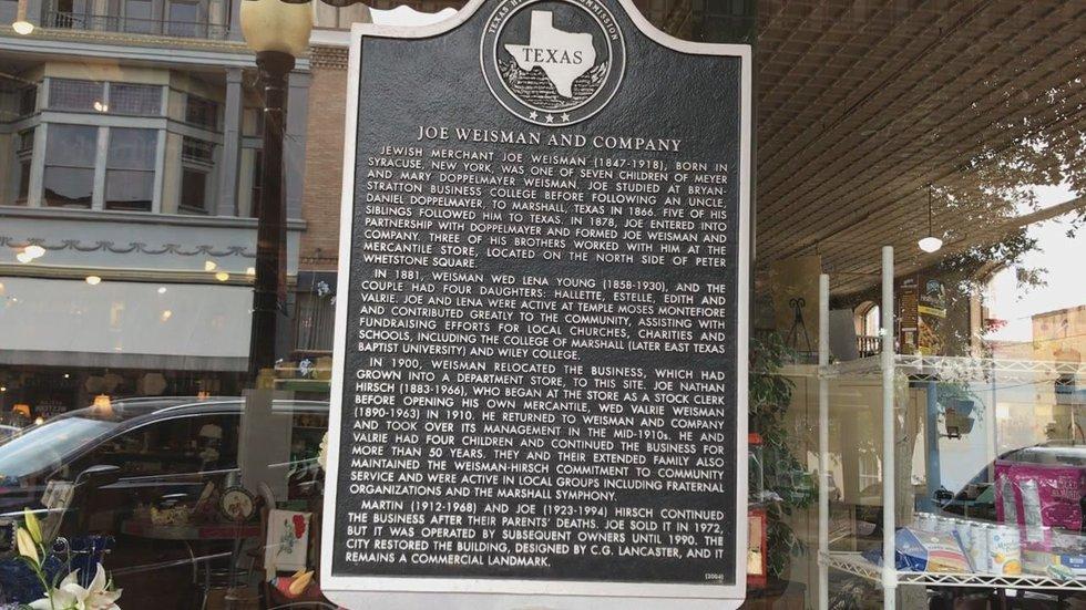 Weisman Historical Marker