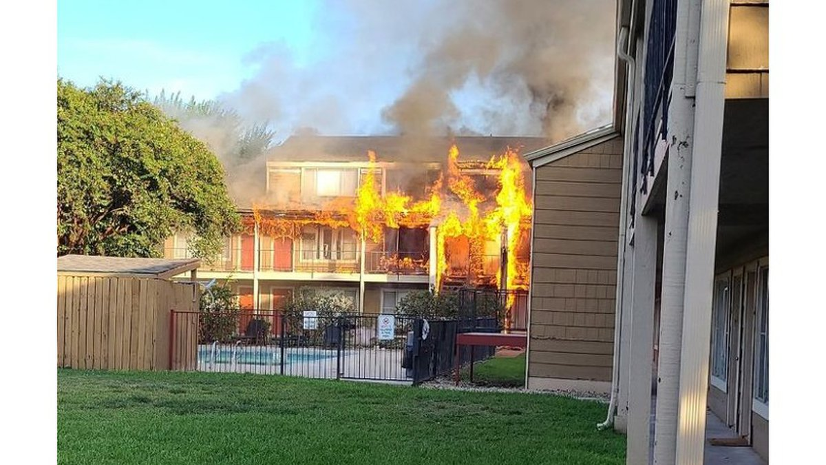 Fire damaged an entire unit at an apartment complex near A&M's campus Tuesday evening but...