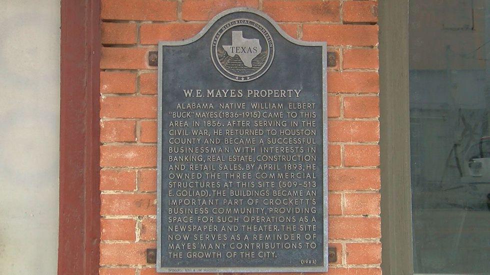 W.E. Mays property historical marker.