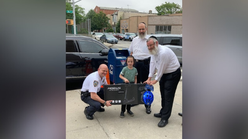 A six-year-old boy received a gift from the New York City Police Department after his electric...