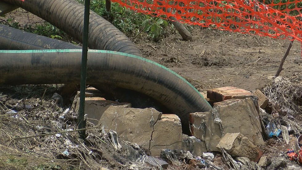 The city created a bypass to stop the overflow. (Source: KLTV)