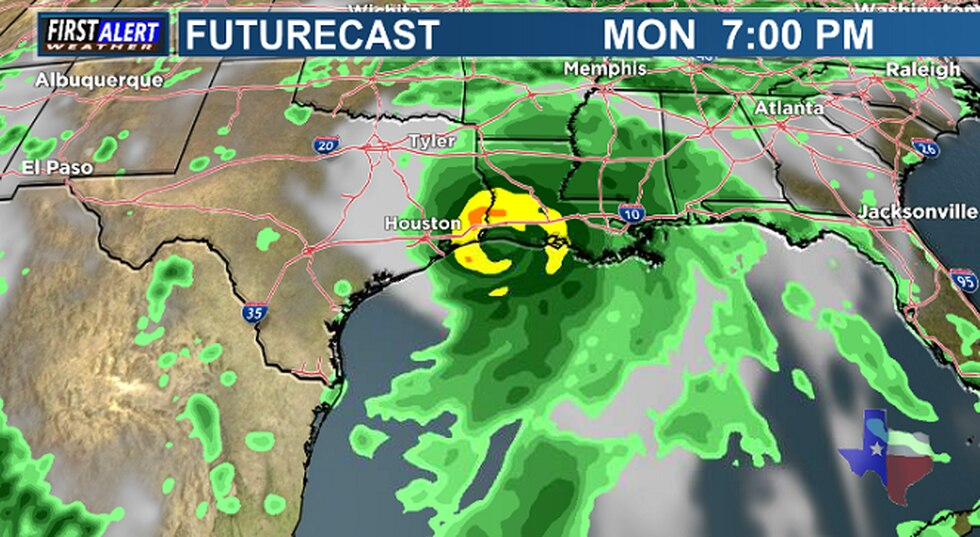 The European Model showing Invest 99-L Monday evening.