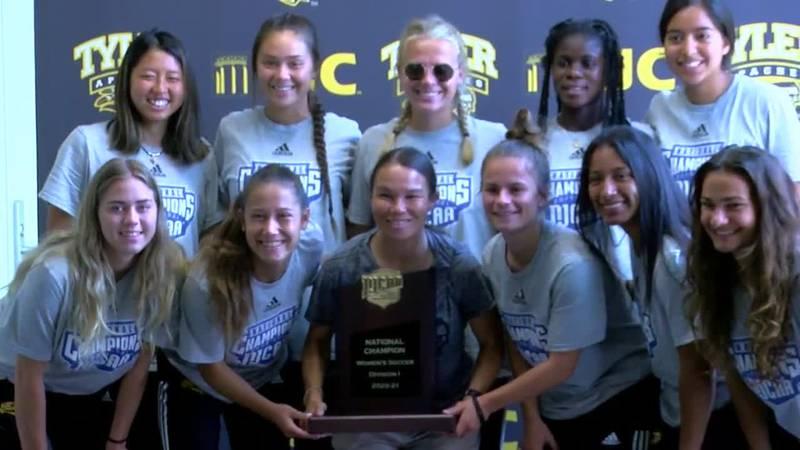 TJC's Lady Apaches won a soccer championship.