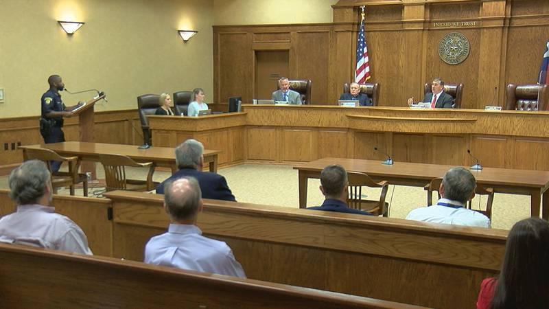 Smith County Judge Nathaniel Moran and Pct. 1 Constable Curtis Traylor Harris had a contentious...