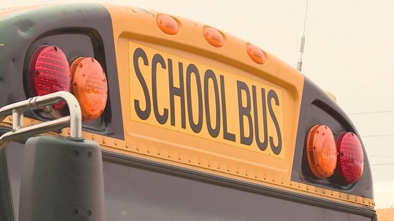 Tyler ISD school bus struck by vehicle Monday morning. No students were injured. (KLTV)