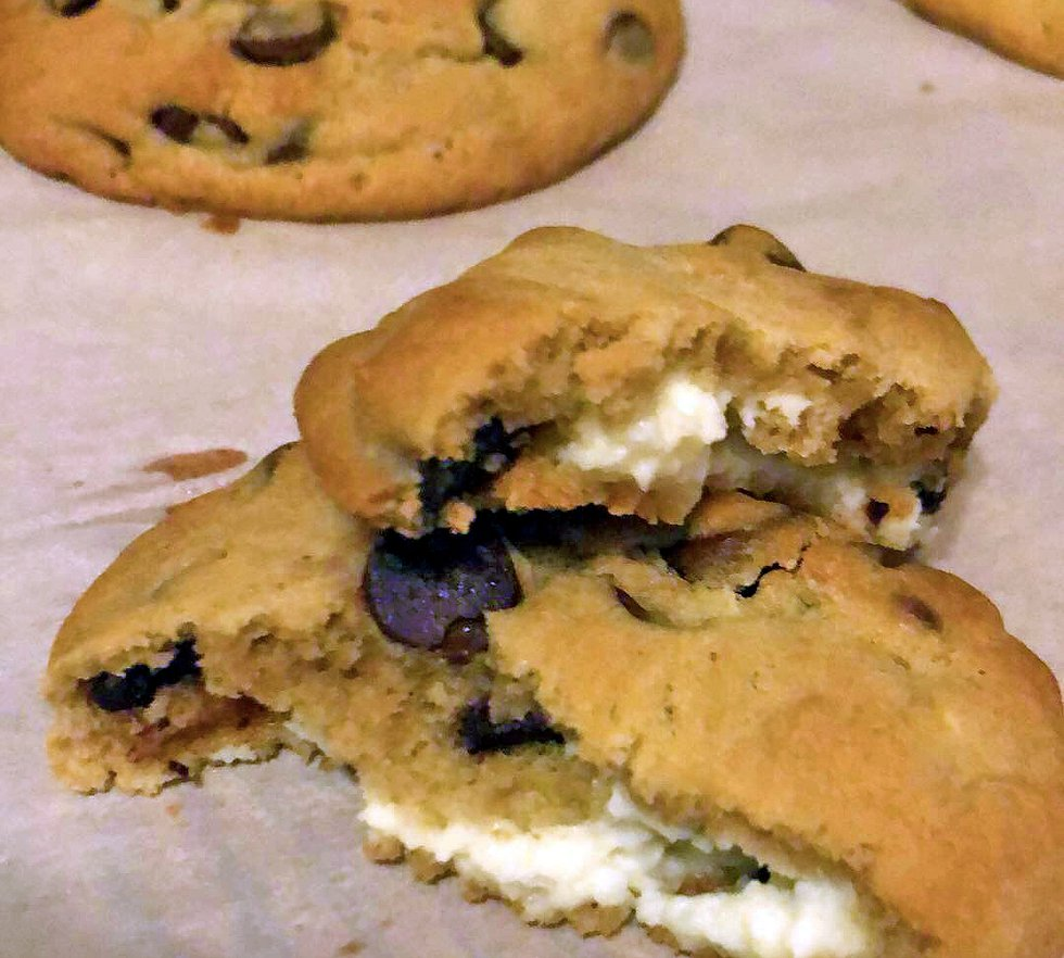 These chocolate chip cheesecake cookies were a hit in our newsroom.