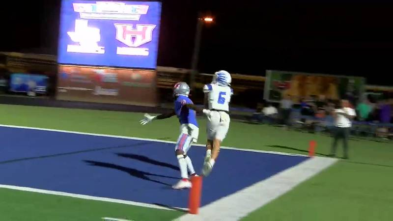 WATCH: Lindale's Judson Long catches deep pass for touchdown against Henderson