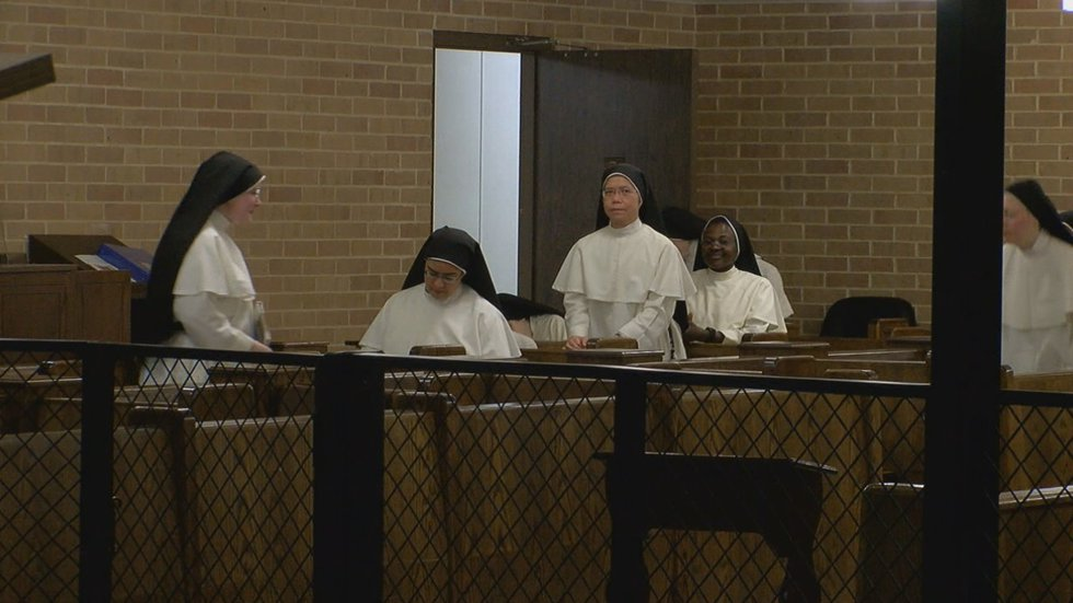 Nearly two dozen cloistered Dominican nuns live at the monastery.