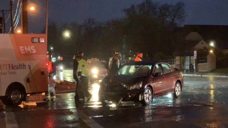 Emergency personal are working to clear the scene of a wreck near downtown Tyler Thursday...