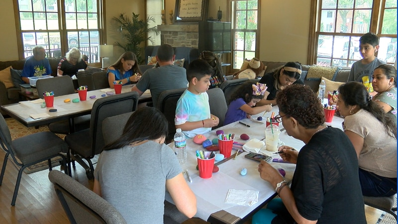 East Texans joined at Alison's House at the Children's Park to paint rocks to add to the 'You...