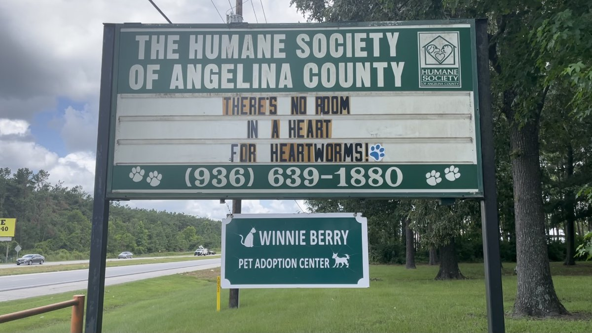 Sign of Angelina County Humane Society