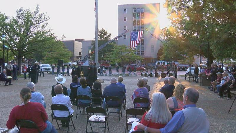 Downtown Tyler Square memorial ceremony to commemorate the 20th anniversary of 9/11.