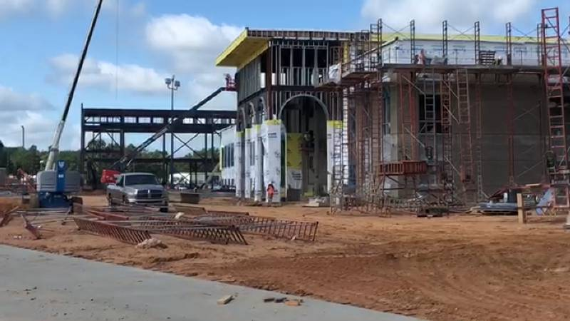 Construction on John Tyler High School's new academic building could wrap up as early as Dec....
