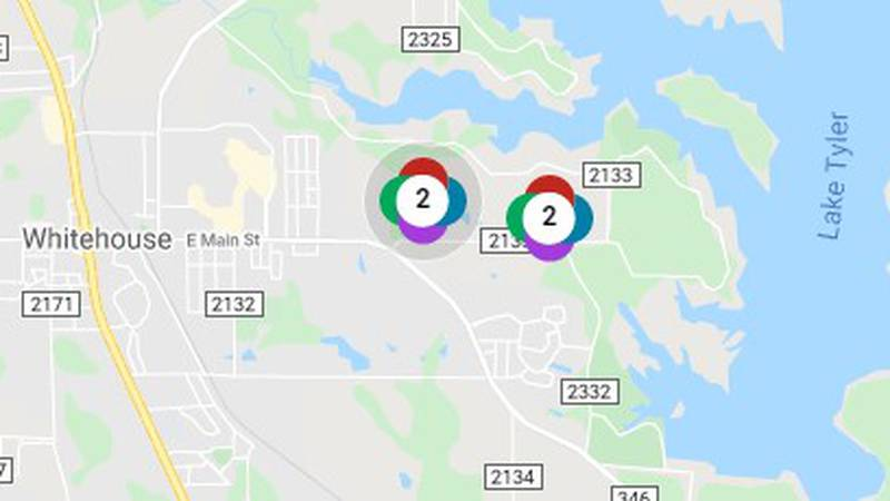 An afternoon power outage has left 116 Oncor customers without power. Estimates note that power...
