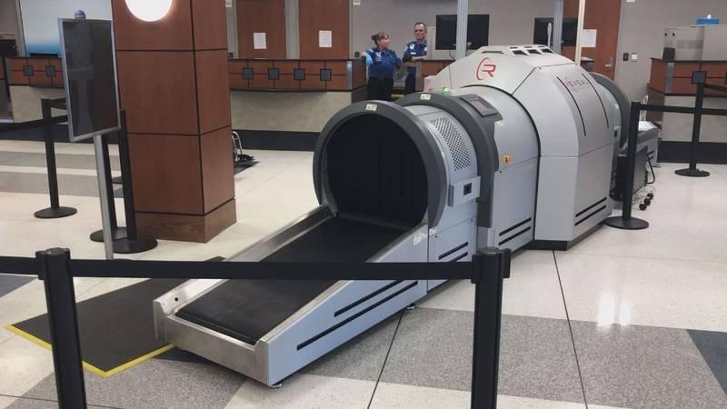 Tyler Pounds Regional Airport has a new piece of high-tech bagging-screening equipment. (Brenna...