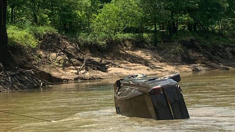 A car was found submerged in the Sabine River near Gladewater. (Source: Gladewater Fire...