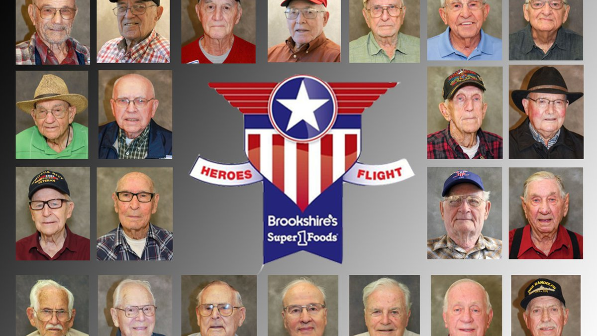 The Brookshire Grocery Company's 18th World War II Heroes Flight is set to depart for...
