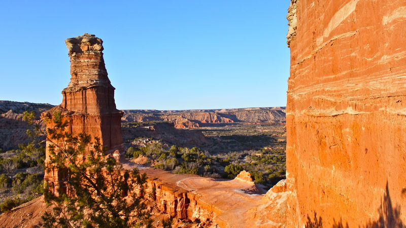 Lightouse Palo Duro Canyon is a Hoodoo rock formation