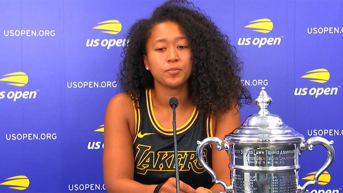 """Tennis player Naomi Osaka says on Twitter """"the best thing for the tournament"""" is if she..."""