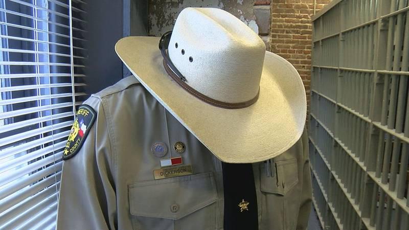 Uniform belonging to fallen deputy Chris Dickerson.