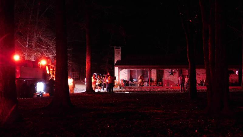 Multiple crews responded to a house fire Monday off Old Bonner Road in the Hudson area.