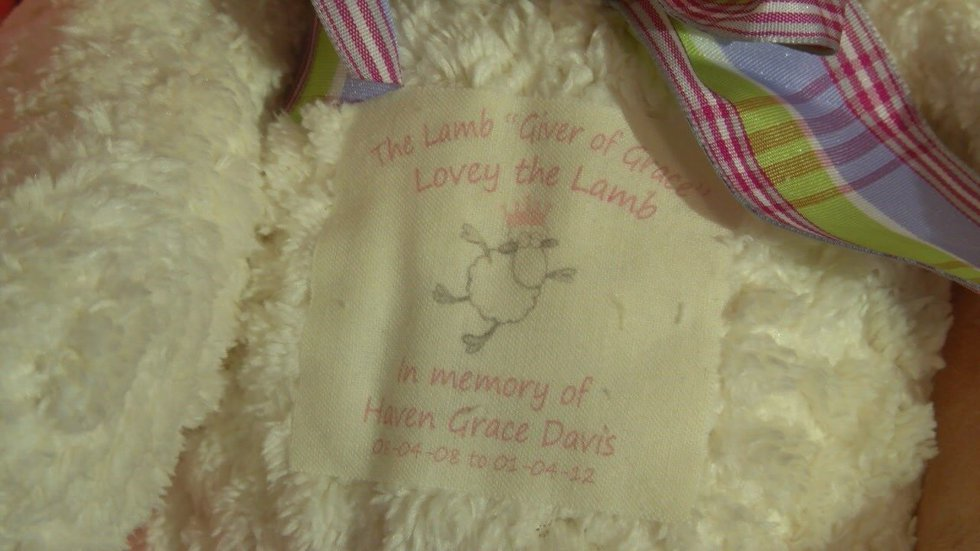 A personalized prayer and message is attached to each lamb before it's shipped to children and...