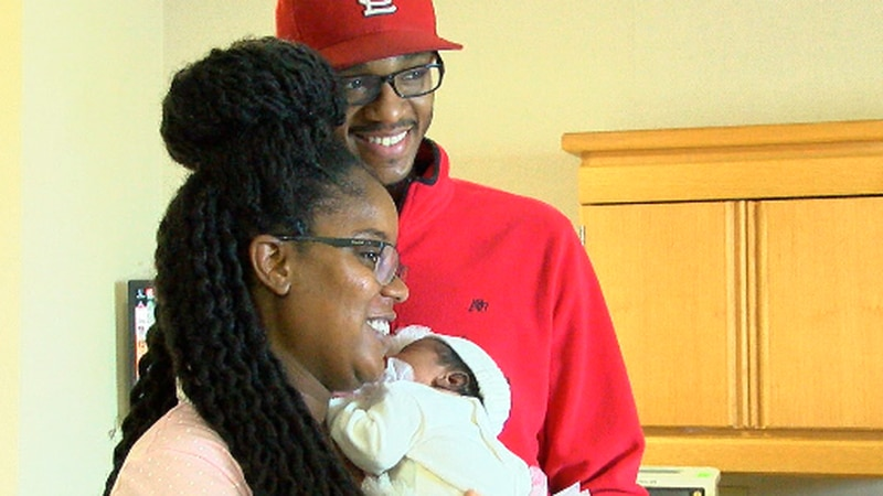 Family welcomes first baby born in 2019.