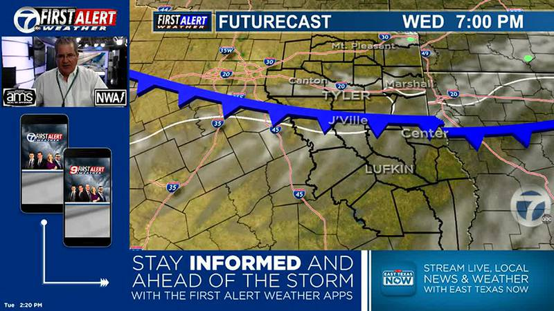 Another Cold Front is expected on Wednesday.
