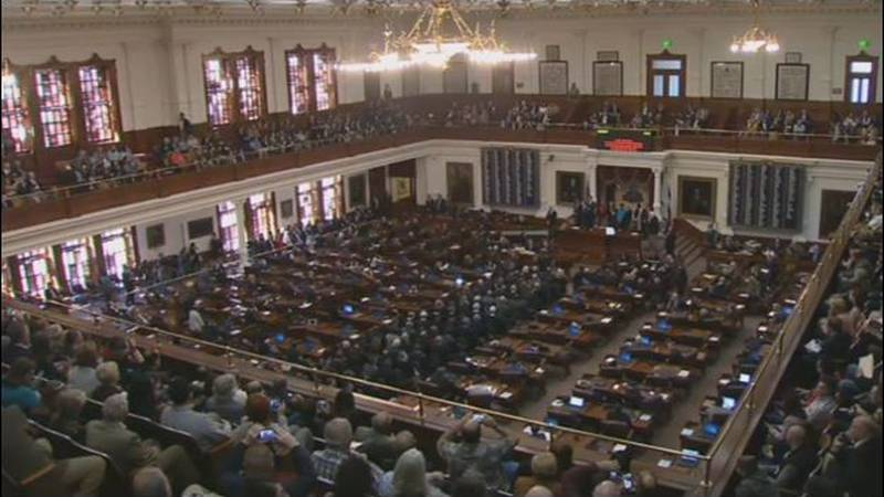 The House Chamber of the Texas Capitol is shown in Austin. A group of the state's Republicans...