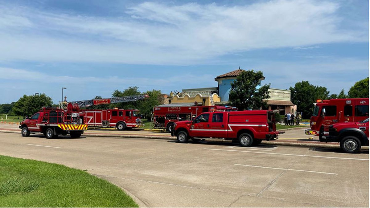 Ten fire trucks responded to a fire at the Posados restaurant in Lindale Sunday morning....