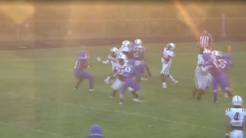 Watch Grapeland's 86-yard touchdown pass