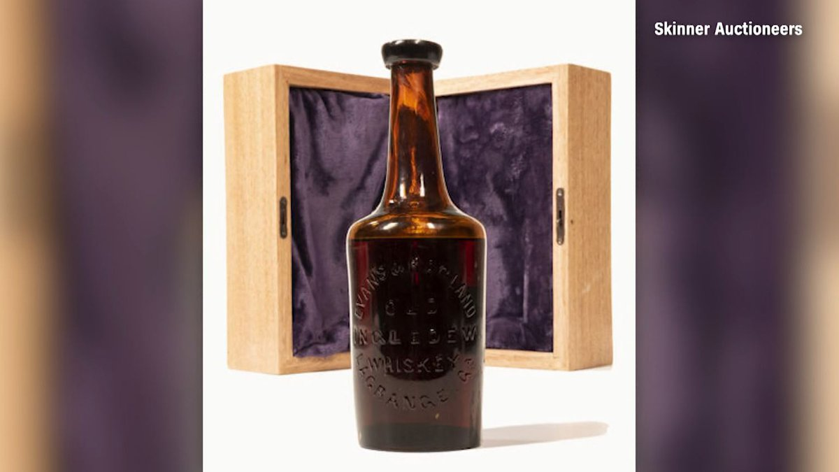 The world's oldest known bottle of whiskey sold at auction for $137,000, according to a report...