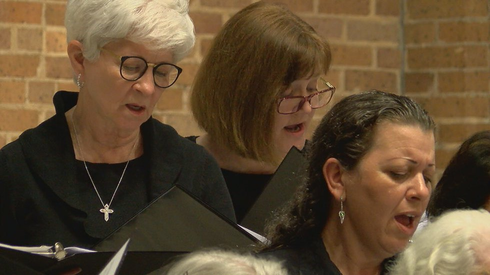Members of the Diocesan Choir come from the 33 counties in the Diocese of Tyler.