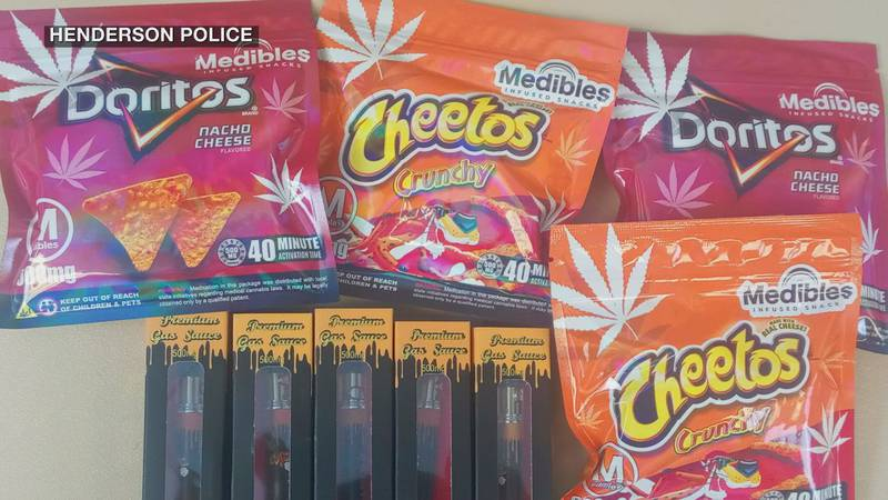 THC-infused products recently confiscated by Henderson Police during a routine traffic stop.