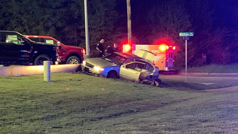 Police officials respond to crash after midnight on SW Loop 323.
