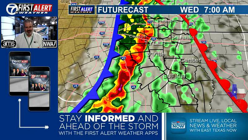 First Alert Weather Day for Wednesday Morning. Strong Storms Expected.