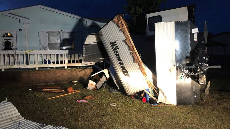 Storm damage reported in Wills Point after Sunday's storms.