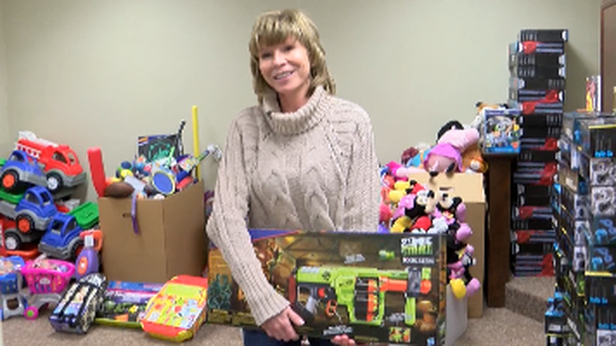 Lea McGee, executive director of the Empty Stocking Fund, a nonprofit organization helping...
